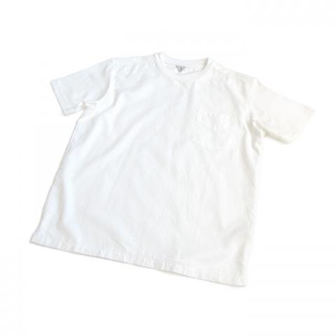 FilMelange(フィルメランジェ)「SUCH S」 コンビTシャツ(オゾンホワイト)