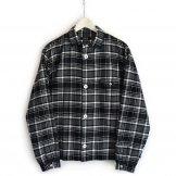 LOLO(ロロ)ステッチなし チェックシャツ(ブラック)