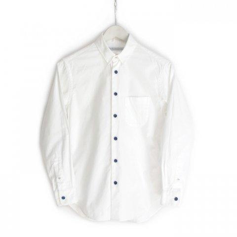 EEL(イール)陶器釦のシャツ(ホワイト)