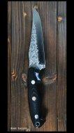 鍛造ナイフ 【雫4型】 黒崎優 作  R2粉末ハイス鋼 マイカルタ柄