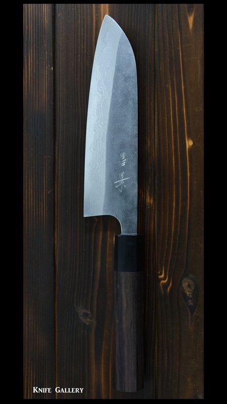 【昌景】三徳包丁 (165mm) 梨地 VG10鋼 ニッケルダマスカス鋼