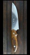 佐治武士 Takeshi Saji カスタムナイフ(野村型)  R2鋼 アイアンウッド柄 鏡面仕上げ