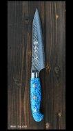 黒崎優 作 ペティナイフ(130mm) SRS13粉末ハイス鋼 風神型 人工ターコイズ柄