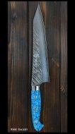 黒崎 優 Yu Kurosaki 牛刀包丁(210mm) SRS13粉末ハイス鋼 風神型 人工ターコイズ柄