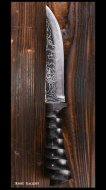 樫原直也 作 カスタムナイフ (刃長145mm) VG10鋼 木鞘付