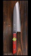 恒久 Tsunehisa 三徳包丁(170mm)青紙スーパー鋼 ステン割込 洋柄 口金なし