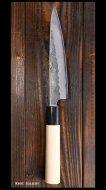 【恒久】 ペティナイフ(135mm) 銀紙三号鋼 梨地 朴丸柄