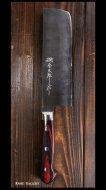 【越前金太郎】 菜切包丁(165mm) 青紙スーパー鋼 ステンクラッド 磨き 口金付き