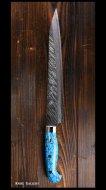 黒崎 優 Yu Kurosaki 筋引き包丁(240mm) SRS13粉末ハイス鋼 風神型 人工ターコイズ柄