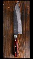 義実 Yoshimi 三徳包丁180mm 青紙スーパー鋼 ステンクラッド 黒打ち