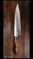 佐治 武士 Takeshi Saji 牛刀包丁210mm VG10有色 アイアンウッド
