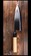 笹岡刃物 Sasaoka Hamono 出刃包丁210mm 青紙鋼 水牛朴八角柄 ※在庫特価品※