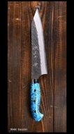 黒崎 優 Yu Kurosaki 牛刀包丁180mm 青紙スーパー 風神型 人工ターコイズ