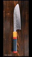 黒崎 真 Makoto Kurosaki 三徳包丁 SG2 クロス槌目 UNIQUE design 2