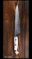 黒崎 優 Yu Kurosaki ペティナイフ150mm SG2 墨流 白黒アクリル