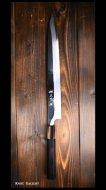 黒崎 優 Yu Kurosaki 柳刃包丁300mm 青紙2号鋼 鏡面 霞仕上げ 片刃 白水牛黒檀