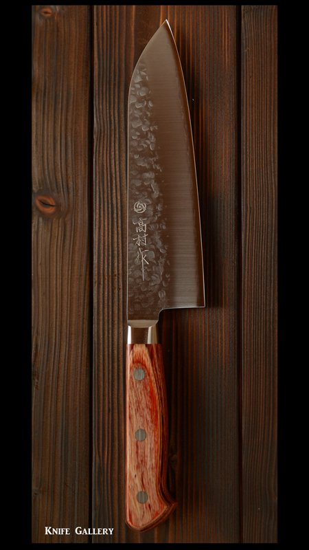 高村刃物 三徳包丁(170㎜) クロマックス鋼 口金付き 合板 洋柄