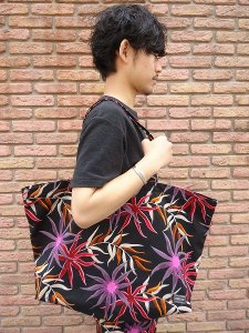 【残り1点】WACKO MARIA (ワコマリア) FLOWER PRINTED TOTE (PORTER×WM) PINK×BLACK
