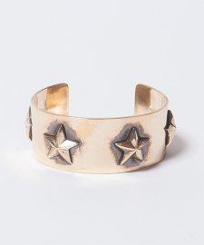 ROTTWEILER (ロットワイラー) BRASS STAR BANGLE(スターバングル)GOLD