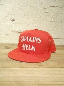 CAPTAINS HELM (キャプテンズヘルム) LOGO MESH CAP(メッシュキャップ)RED
