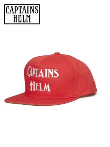 CAPTAINS HELM (キャプテンズヘルム) LOGO SNAP BACK CAP (スナップバックキャップ) Red