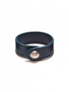 ANTIDOTE BUYERS CLUB(アンチドートバイヤーズクラブ)Leather Wristband(レザーバングル)BLUE