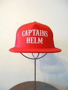 CAPTAINS HELM (キャプテンズヘルム) LOCALS LOGO MESH CAP(メッシュキャップ)RED