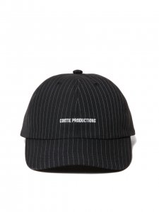 COOTIE (クーティー) T/R 6 Panel Curved Brim Cap (パネルキャップ) Black Stripe