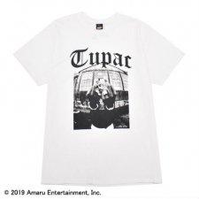 RAPTEES(ラップティーズ) 2PAC PHOTO S/S TEE (トゥーパックフォト半袖Tシャツ) WHITE