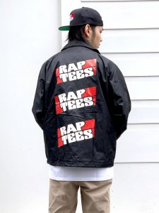 RAPTEES(ラップティーズ) RAP TEES LOGO COACH JACKET (ラップティーズコーチジャケット) BLACK