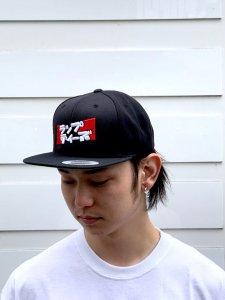 RAPTEES(ラップティーズ) ラップティーズ 5PANEL LOGO CAP (ラップティーズ刺繍5パネルキャップ) BLACK