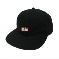 <img class='new_mark_img1' src='//img.shop-pro.jp/img/new/icons24.gif' style='border:none;display:inline;margin:0px;padding:0px;width:auto;' />【40%OFF】RAPTEES(ラップティーズ) RAP TEES LOGO FLAT CAP (ラップティーズ刺繍フラットキャップ) BLACK