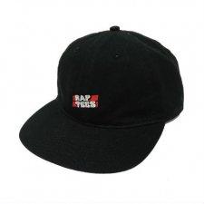 RAPTEES(ラップティーズ) RAP TEES LOGO FLAT CAP (ラップティーズ刺繍フラットキャップ) BLACK