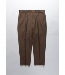 WACKO MARIA (ワコマリア) PLEATED TROUSERS (TYPE-1) (ワンタックスラックス) BROWN