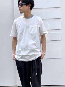 REMI RELIEF (レミレリーフ) 30/-天竺グランジT OFF WHITE