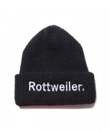 ROTTWEILER (ロットワイラー)BRONER ROTTWEILER. Knit Cap(ニットキャップ) BLACK