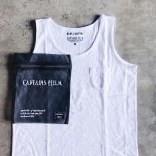 CAPTAINS HELM (キャプテンズヘルム) #PLEASURE SEEKER TANK-TOP (タンクトップ) SUPER WHITE