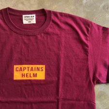 CAPTAINS HELM (キャプテンズヘルム) #M.S.F.N. TEE (半袖プリントTEE) BURGUNDY
