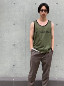 CAPTAINS HELM (キャプテンズヘルム) #REVERSIBLE MESH TANK TOP (リバーシブルタンクトップ) OLIVE×OFF WHITE
