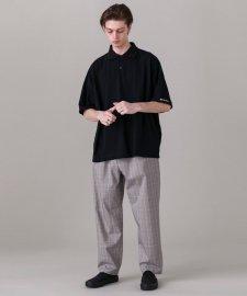DELUXE (デラックス) ALL FAMILIA (BIGシルエットポロシャツ) BLACK