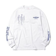 【50%OFF】Paradise Youth Club(パラダイス ユース クラブ)IN FUTURE LONGSLEEVE TEE (プリント長袖TEE) WHITE