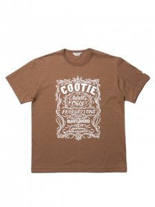 COOTIE (クーティー) Print S/S Tee (ORNAMENT) (プリント半袖TEE) Brown