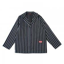 CookMan (クックマン) Lab.Jacket Stripe (ラボジャケット ストライプ ) BLACK