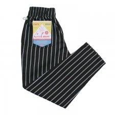 CookMan (クックマン) Chef Pants Stripe (シェフパンツ ストライプ ) BLACK