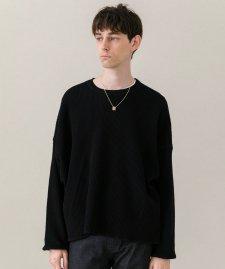 DELUXE (デラックス) CONNOR (L/S サーマルTシャツ) BLACK