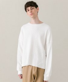 DELUXE (デラックス) CONNOR (L/S サーマルTシャツ) WHITE