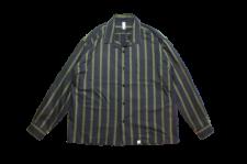 WAX (ワックス) Open coller shirts (オープンカラーシャツ) BLACK