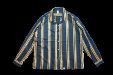 WAX (ワックス) Open coller shirts (オープンカラーシャツ) BLUE