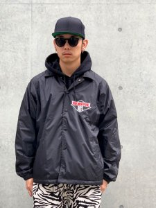 <img class='new_mark_img1' src='//img.shop-pro.jp/img/new/icons24.gif' style='border:none;display:inline;margin:0px;padding:0px;width:auto;' />【40%OFF】RAPTEES(ラップティーズ) 'BEASTIE BOYS' LOGO COACH JACKET (ビースティーボーイズコーチジャケット) BLACK