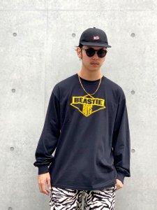 RAPTEES(ラップティーズ) RAPTEES(ラップティーズ) BEASTIE BOYS L/S TEE (ビースティーボーイズ 長袖Tシャツ) BLACK